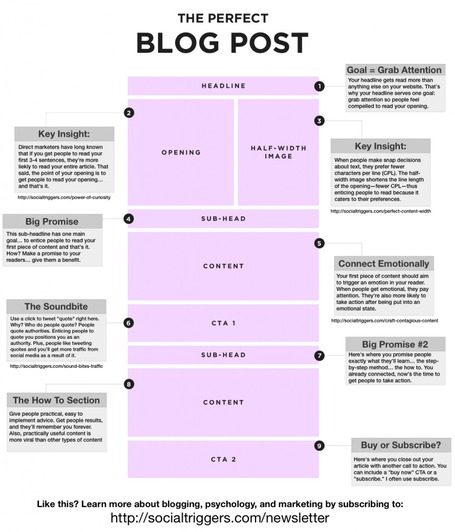 How to Write the Perfect Blog Post [INFOGRAPHIC] | mutations des médias et du journalisme | Scoop.it