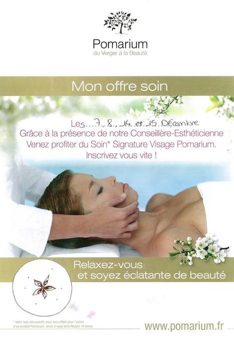 Votre Soin Signature Visage Pomarium offert chez Mademoiselle Bio - Paris - 7,8,14 & 15 décembre   Pomarium   Scoop.it