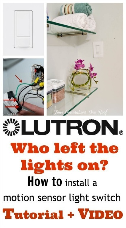 How to install a motion sensor light switch {DIY} - Four Generations One Roof | Makers | Scoop.it