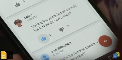 MAJ Gslide : accepter les questions de votre auditoire | Google Apps  (FR) | Scoop.it