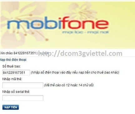 Nạp tiền cho sim 3g mobifone trên ipad - Hướng dẫn sử dụng   group 1 đổi 1   Scoop.it