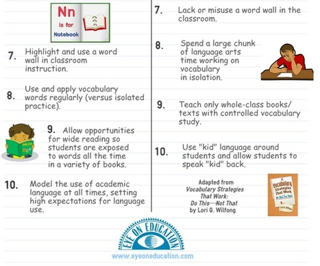 10 Great Strategies for Effective Vocabulary Instruction ~ Educational Technology and Mobile Learning | Instructional Technology | Scoop.it