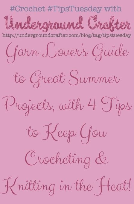 Yarn Lover's Guide to Great Summer Projects | Crochet Patterns and Tutorials | Scoop.it