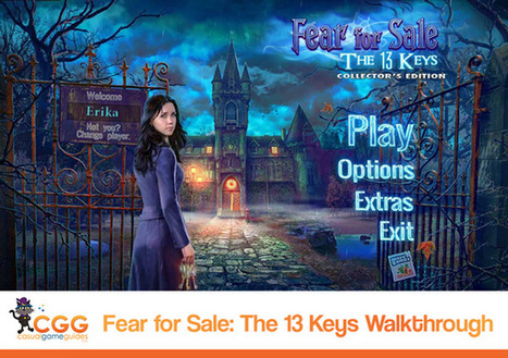 Fear for Sale: The 13 Keys Walkthrough: From CasualGameGuides.com | Casual Game Walkthroughs | Scoop.it