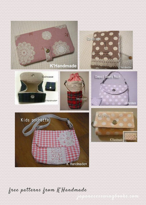 Free Patterns from K'Handmade - Japanese Sewing Books | Sewing | Scoop.it