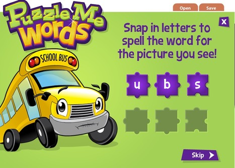 Puzzle Me Words - an Interactive Spelling game for Young Learners | Pscyhology, Education, Online Jobs | Scoop.it