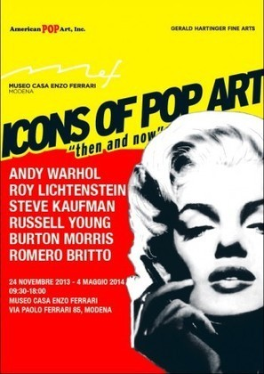 """Famous Ferrari Paintings by Steve Kaufman Come Home as """"ICONS OF POP ART Then and Now"""" Debuts at the House of Ferrari Museum in Modena, Italy   Steve Kaufman, Pop Art, Mozart, Beethoven, Warhol, Ferrari, Marilyn   Scoop.it"""