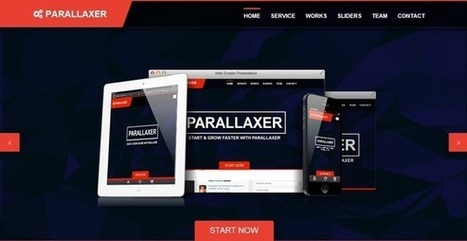 Website Templates ~ Parallaxer new one page Bootstrap | Twitter Bootstrap templates starter KIT free | Scoop.it