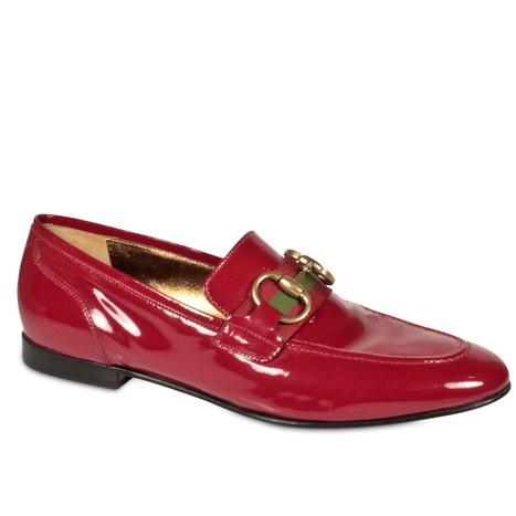 Gucci womens Shoes Red Patent Leather Horsebit Loafers (GGW1587) | Designer Womens Shoes | Scoop.it