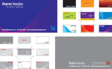 Free business card templates. Free Vector illustrator EPS layout templates for biz cards | OpenGraphicDesign.com | Infographics tools | Scoop.it