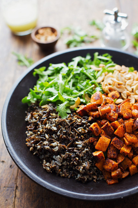 Roasted Sweet Potato, Wild Rice, and Arugula Salad - Pinch of Yum | Coffee & food Junkies | Scoop.it