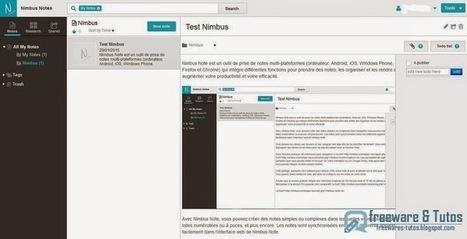 Nimbus Note : un outil de prise de notes multi-plateformes à découvrir | Numérique intelligent | Scoop.it