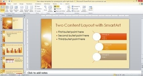 Free Ideas Template For PowerPoint With Light Bulb | PowerPoint Presentation | PowerPoint Presentation Library | Scoop.it