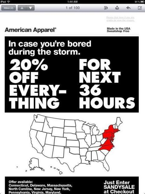 American Apparel tente de surfer sur l'ouragan et fait souffler le bad buzz | Stratégie Média | CommunicationDeCrise | Scoop.it