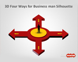 3D Four Ways for Business Man Silhouette PowerPoint Slides | ad | Scoop.it