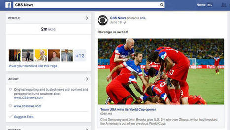 On Facebook, World Cup is bigger than Olympics, Super Bowl combined - CBS News   Internet   Scoop.it
