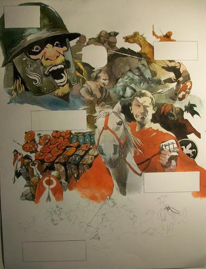 La guerre des Gaules: Tome 2 : planche en cours // book 2 work in progress | La Guerre des Gaules en BD | Scoop.it