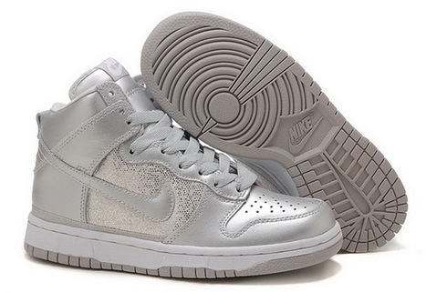 Women Nike Dunk High Top Shoes 056 Grey Silver Sand | Online Shopping | Scoop.it