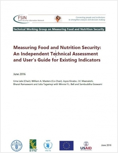 Measuring Food and Nutrition Security: An Independent Technical Assessment and User's Guide for Existing Indicators - Lele &al (2016) - FSIN | Food Policy | Scoop.it