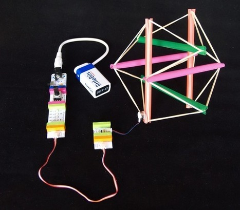 Build a Simple Robot with a Tensegrity Structure | Make: ^ by Kathy Ceceri | On education | Scoop.it