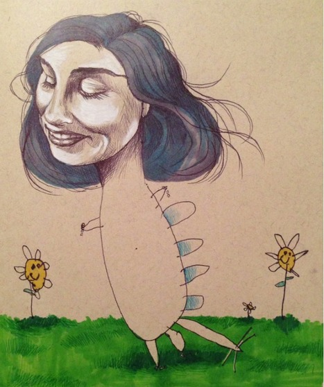 Artist collaborates with her 4-year old daughter...   Art for art's sake...   Scoop.it
