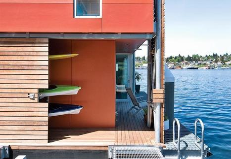 Dwell's Facebook Wall: A prefabricated floating home drops anchor in the Pacific Northwest: http://bit.ly/26uH2Ul | Innovative Architecture and Façade design | Scoop.it