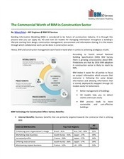 The Commercial Worth of BIM in Construction Sector | Collaboration | Scoop.it
