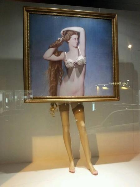 LE BON MARCHE INVENTE L'ARTY LINGERIE DANS SES VITRINES   I@LEWEB   Scoop.it