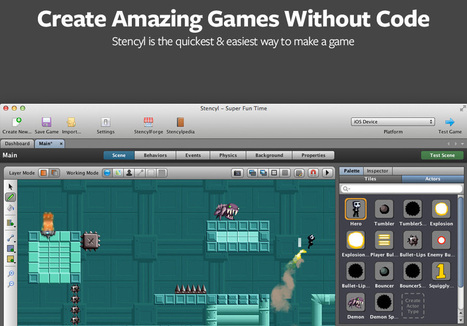 Stencyl: Make iPhone, iPad, Android & Flash Games without code | iDevice Tools for Creativity | Scoop.it