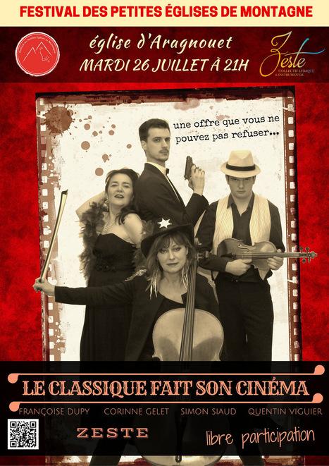 Festival des petites églises de montagne : le Classique fait son cinéma le 26 juillet à Aragnouet | Vallée d'Aure - Pyrénées | Scoop.it