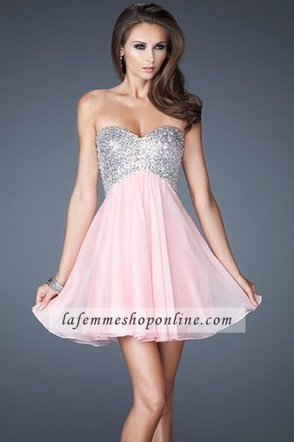 Cotton Candy Pink Short Sequin Princess Homecoming Dresses 2014 with Fully Sequin Bodice [La Femme 17902] - $159.00 : La Femme Dresses | La Femme Dresses Online Shop| La Femme Gowns | Boutique | Scoop.it