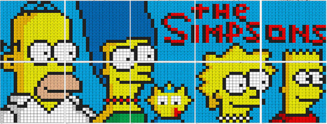 The Simpsons Mural- Multiplication and Division | Coloring Squared | Scoop.it