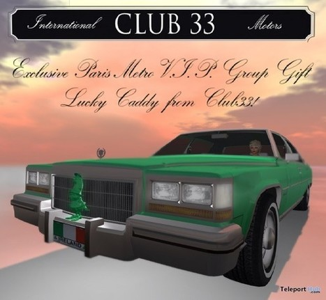 Lucky Daddy Car Group Gift By Paris METRO Couture   Teleport Hub - Second Life Freebies   Second Life Freebies   Scoop.it
