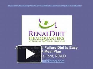 Chronic Renal Failure Diet | Renal Diet Meal and Menu Plan | Scoop.it
