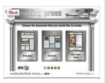 Printing Press - ReadWriteThink   Teach and tech   Scoop.it