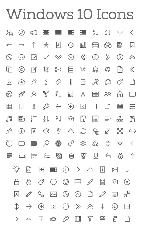 200+ Windows 10 Icons – Free Download   elearning stuff   Scoop.it