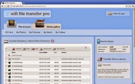 Transfer Files Over WiFi With WiFi File Transfer Pro Android | TrickFlu | TrickFlu | Scoop.it