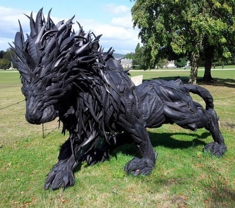 This Lion Sculpture Is Made out of Tires | Art, Design & Technology | Scoop.it