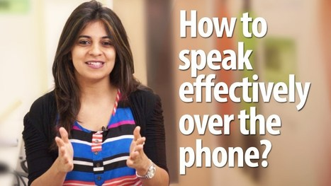 How to speak effectively over the phone? - English lesson - Telephone skills - YouTube | english class | Scoop.it