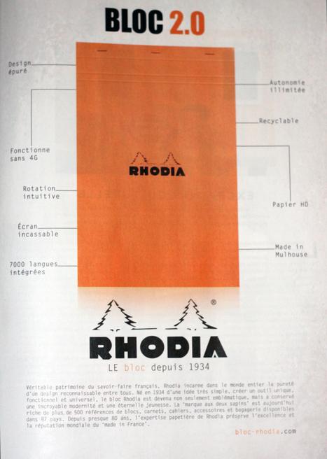 Publicité Rhodia 2013 | Le livre numérique est-il une tablette comme les autres | Scoop.it