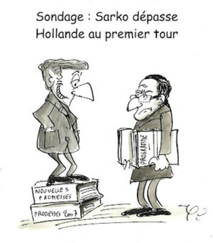 Sarkozy dépasse Hollande au premier tour | Baie d'humour | Scoop.it