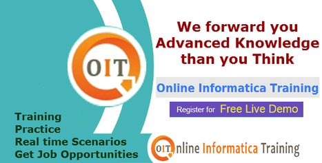 Online Training sessions for Informatica Course | Build your bright career with online training by online informatica training institute | Scoop.it