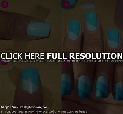 Geometrical shape easy nail art designs for girls | nail art | Scoop.it