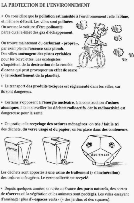 Le Cahier de Français: L'ENVIRONNEMENT | French 3 | Scoop.it