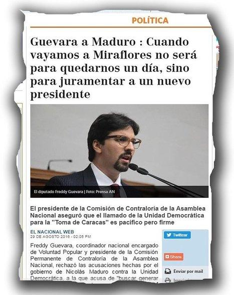 CNA: VENEZUELA 1-Sep - En DEMOCRACIA, al PODER se llega por las URNAS no poniendo al País al borde de una Guerra Civil | La R-Evolución de ARMAK | Scoop.it