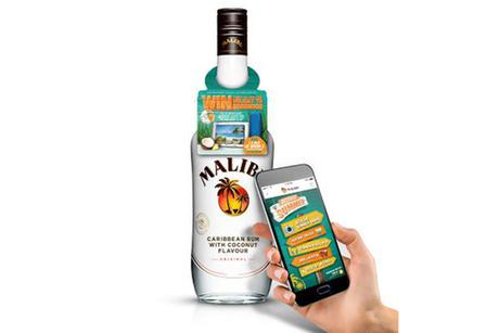 Malibu lance 40 000 bouteilles connectées | NFC marché, perspectives, usages, technique | Scoop.it