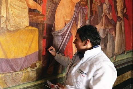 Pompeian frescoes cured with antibiotics | News in Conservation | Scoop.it