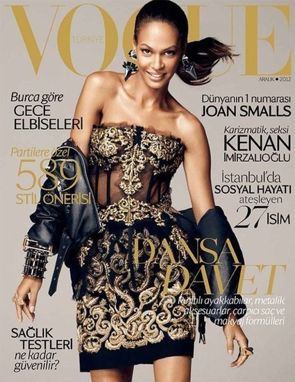 Model Shots: Joan Smalls Covers January 2013 'Vogue Turkey ... | African fashion and beauty | Scoop.it