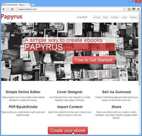 Easily Create, Design & Publish Your Own eBooks Online With Papyrus | Time to Learn | Scoop.it