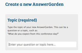 Brainstorming and polling with AnswerGarden | Teaching in Higher Education | Scoop.it